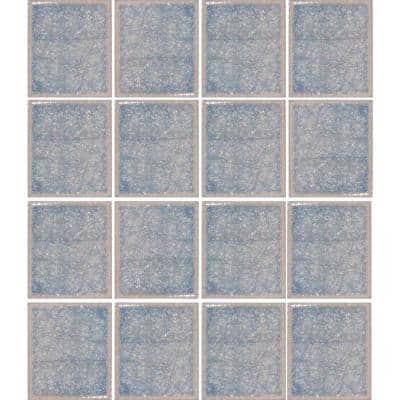 Oceanz Arctic Blue-1726 Crackled Glass 12 in. x 12 in. Mesh Mounted Tile (5 sq. ft. / case)
