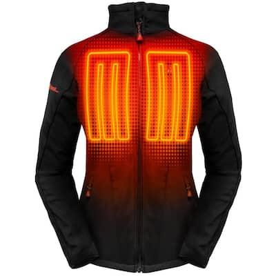 Women's Large Black Softshell 5-Volt Heated Jacket