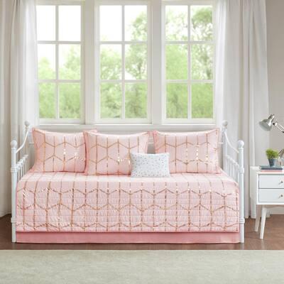 Khloe 6-Piece Blush Daybed Bedding Set