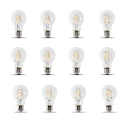 60-Watt Equivalent A19 IntelliBulb Dusk to Dawn CEC Title 20 Compliant LED Light Bulb Clear Daylight (5000K) (12-Pack)