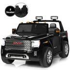 11.5 in. Suitable 3 Plus Kids 12-Volt 2-Seater Licensed GMC Ride on Car Black