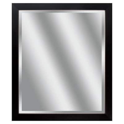 Victoria 26 in. x 22 in. Classic Rectangle Framed Black Vanity Mirror