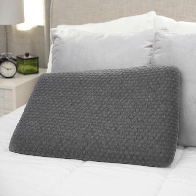 Low Profile Stomach Sleeper Firm Memory Foam Standard Bed Pillow