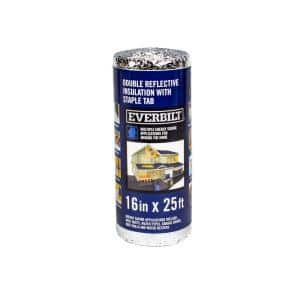 16 in. x 25 ft. Double Reflective Insulation Staple Tab
