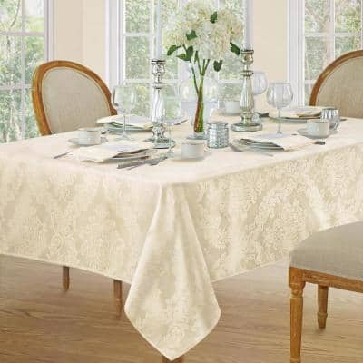 60 in. W x 120 in. L Antique Barcelona Damask Fabric Tablecloth
