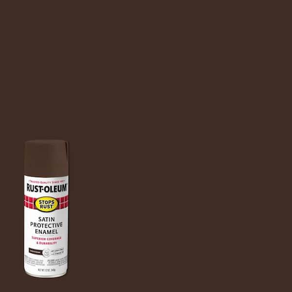 Rust Oleum Stops 12 Oz Protective, Dark Brown Furniture Spray Paint