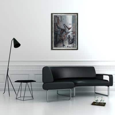 """29 in. x 41 in.""""Life is A Dance in The Rain Instrumental with Athenian Silver Frame"""" by Adrian Borda Framed Wall Art"""