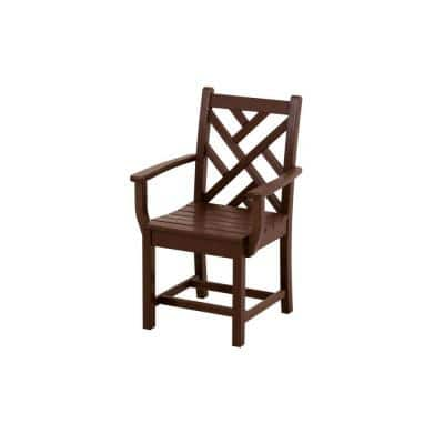 Chippendale Mahogany Patio Dining Arm Chair