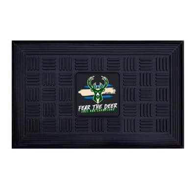 """NBA - Milwaukee Bucks 2021 NBA Finals Champions Medallion Door Mat 19.5""""x31.25"""""""