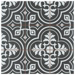 Harmonia Vintage Black 13 in. x 13 in. Ceramic Floor and Wall Tile (12.19 sq. ft./Case)