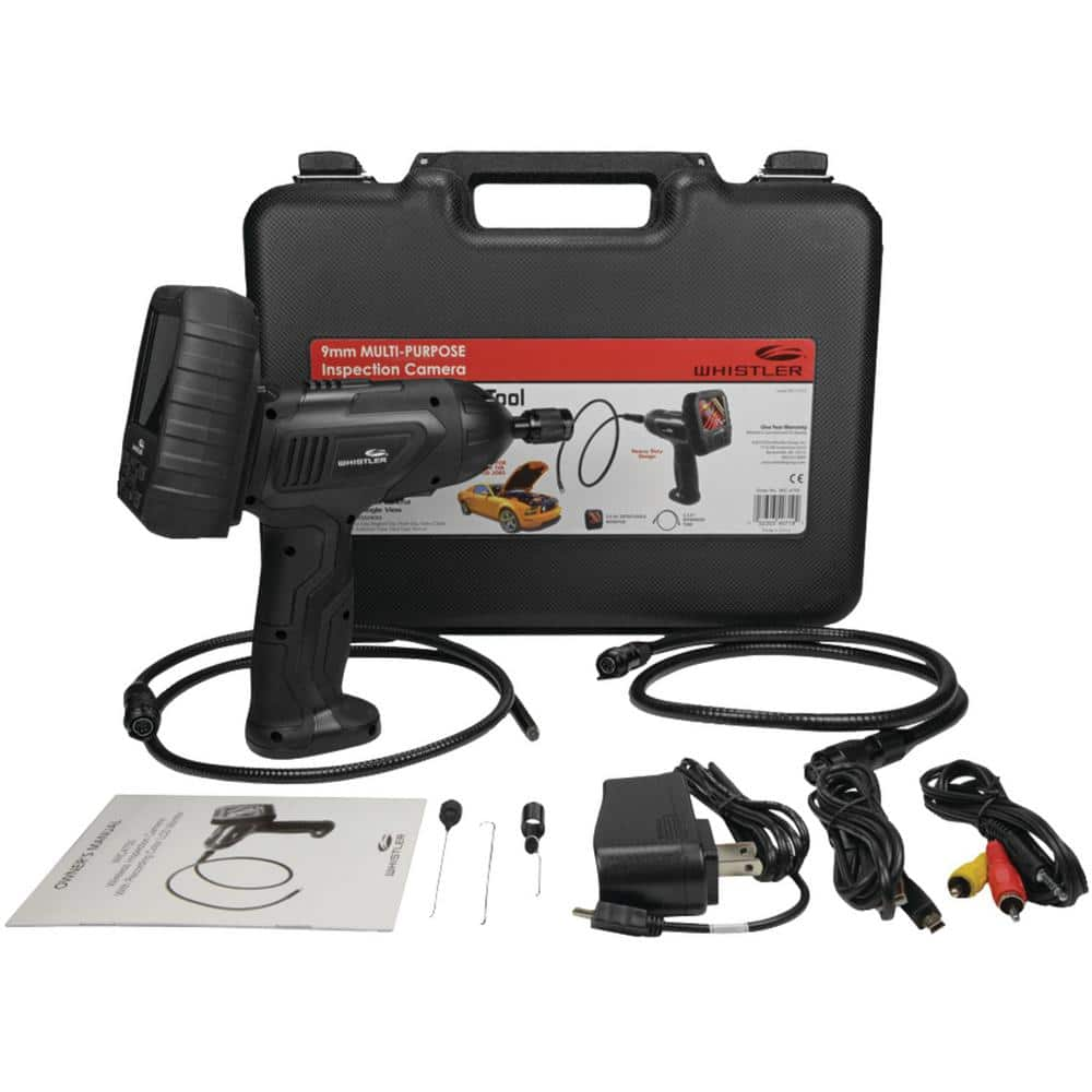 2.7 LCD Monitor Whistler WIC-2750 Waterproof Borescope Inspection Snake Camera with LED Lighting