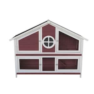 Wooden Pet House-Red Wooden Pet House-Red