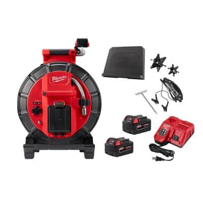 M18 18-Volt Lithium-Ion Cordless 120 ft. Pipeline Inspection System Image Reel Kit with Batteries and Charger