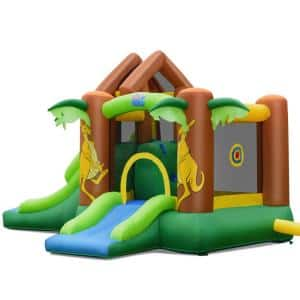 Inflatable Bounce House Jungle Jumping Bouncer Double Slides Park with Blowe