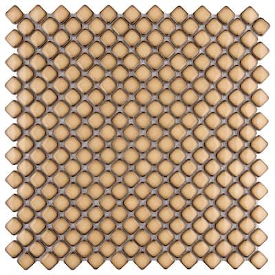 Hudson Diamond Caffe 12 in. x 12 in. Porcelain Mosaic Tile (10.85 sq. ft. / Case)