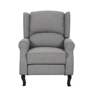 Gray Modern Wingback Recliner Chair
