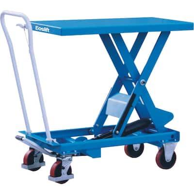 1100 lbs. 17.7 in. x 27.6 in. Scissor Lift Table Cart