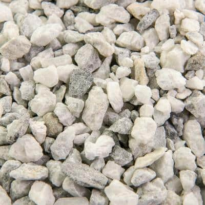 25 cu. ft. 3/8 in. White Ice Bulk Landscape Rock and Pebble for Gardening, Landscaping, Driveways and Walkways