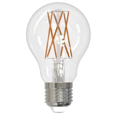 75-Watt Equivalent A19 Clear Dimmable Edison LED Light Bulb Soft White (2-Pack)