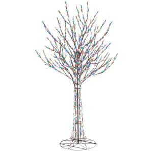 8 ft Giant-Sized LED Pre-Lit Bare Branch Tree with 700 Multi Color Lights