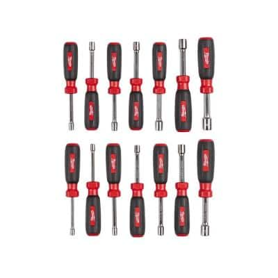 14-Piece SAE and Metric Hollow Shaft Nut Driver Set