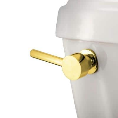 Concord Front Mount Toilet Tank Lever in Polished Brass