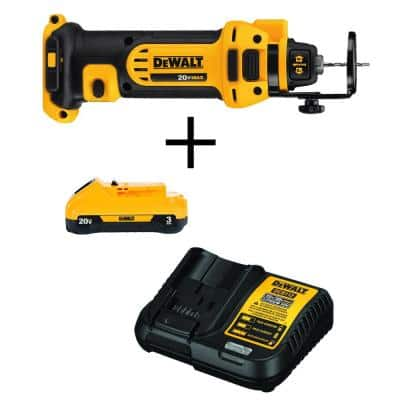 20-Volt MAX Cordless Drywall Cut-Out Tool with (1) 20-Volt Battery 3.0Ah & Charger