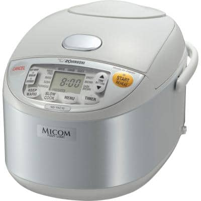 Umami 7-Cup Pearl White Rice Cooker with Non-Stick Cooking Pot