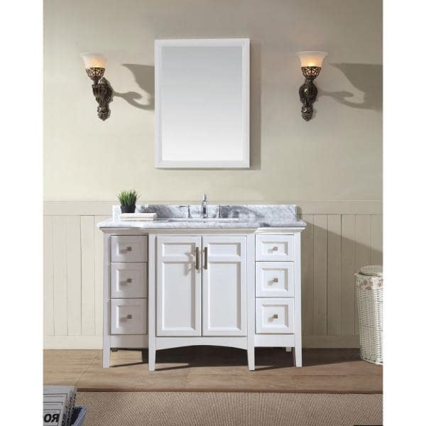Bath Luz 48 In Single Vanity, What Size Mirror For A 48 Vanity