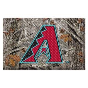 MLB - Arizona Diamondbacks 19 in. x 30 in. Outdoor Camo Scraper Mat Door Mat