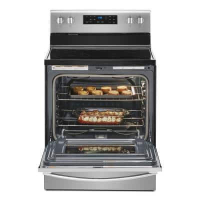 30 in. 5.3 cu. ft. Electric Range with 5-Elements and Frozen Bake Technology in Fingerprint Resistant Stainless Steel