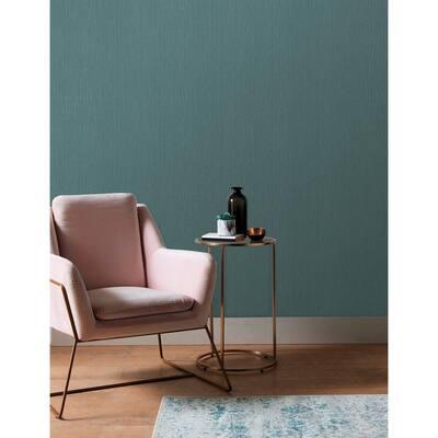 Crewe Teal Vertical Woodgrain Teal Wallpaper Sample