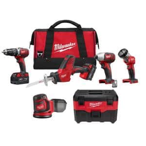 M18 18-Volt Lithium-Ion Cordless Combo Tool Kit (4-Tool) with Wet/Dry Vacuum and Orbit Sander