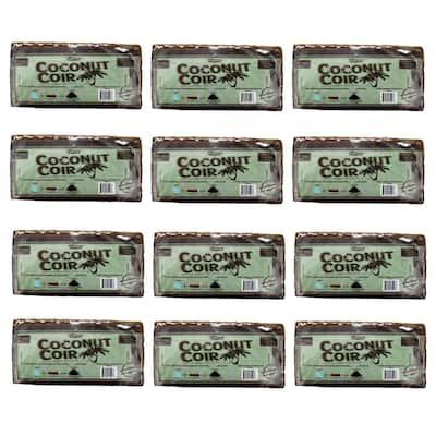 1.4 lbs./650g Premium Coco Coir, Soilless Grow Media, Coconut Coir Brick (12-Pack)