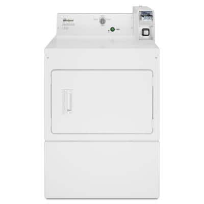 7.4 cu. ft. 240-Volt White Commercial Electric Vented Dryer Coin Operated