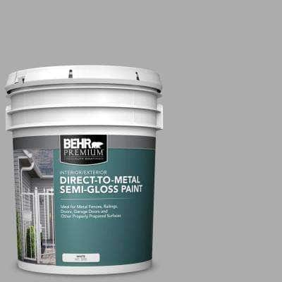 5 gal. #N520-3 Flannel Gray Semi-Gloss Direct to Metal Interior/Exterior Paint