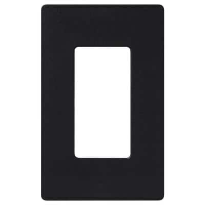 Claro 1 Gang Decorator/Rocker Wallplate, Gloss, Black (1-Pack)