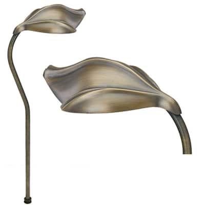 1-Light Antique Bronze Die Cast Brass Path Light