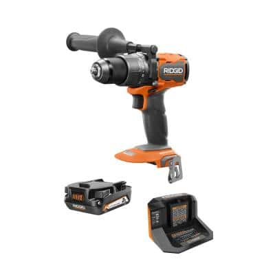 18V Brushless Cordless 1/2 in. Hammer Drill/Driver Kit with 2.0 Ah Battery and Charger