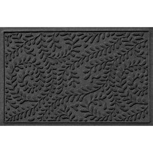 Aqua Shield Boxwood 23 in. x 35 in. PET Polyester Doormat Charcoal