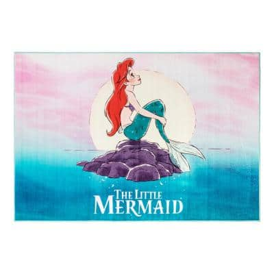 Ariel The Little Mermaid Multi-Colored 5 ft. x 7 ft. Indoor Polyester Area Rug