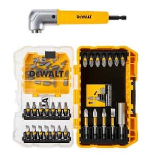 Deals on DEWALT MAXFIT Steel Screwdriving Bit Set w/ Right Angle Adapter
