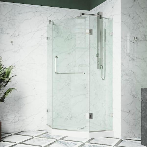Vigo Piedmont 38 In W X 77 H Neo, Corner Shower Glass Doors Home Depot
