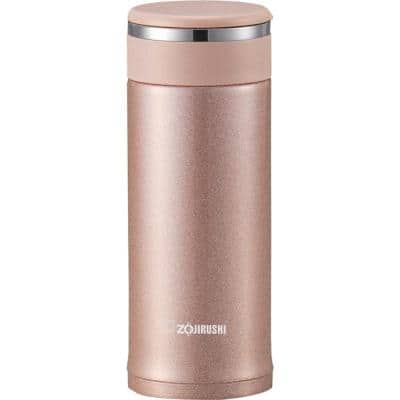 11 oz. Pink Champagne Stainless Steel Travel Mug with Tea Leaf Filter