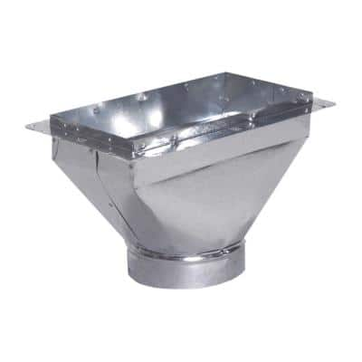 10 in. x 4 in. to 6 in. Register Box with Flange