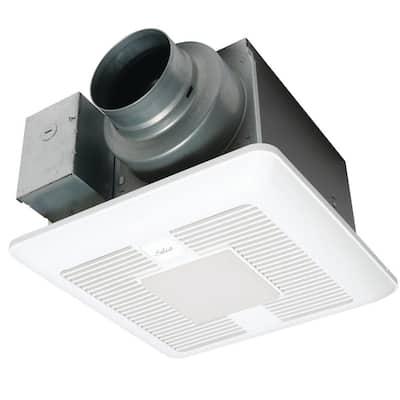 WhisperGreen Select Pick-A-Flow 50/80/110CFM Exhaust Fan-LED Light-multispeed- Flex-Z Fast bracket-4/6 in. duct adapter
