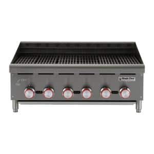 36 in. Commercial Countertop Radiant Char Broiler
