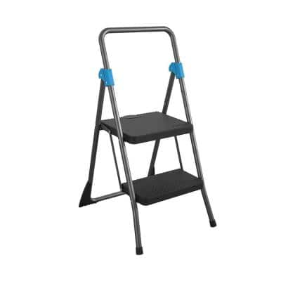 2-Step Commercial Folding Steel Step Stool