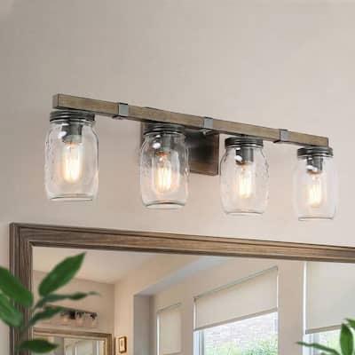 Mason Jar Vanity Lighting Lighting The Home Depot