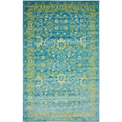 Imperial Ottoman Blue 5' 0 x 8' 0 Area Rug